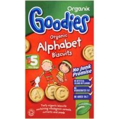 Organix Biscuiti Bio Alfabet, de la 12 luni
