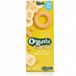 Organix Biscuiti bio cu banane pentru bebelusi de la 7 luni