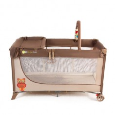 Kinderkraft - Patut pliabil Joy Plus Brown