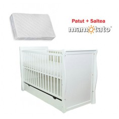 MAMO-TATO - Patut multifunctional Regal White + Saltea Cocos