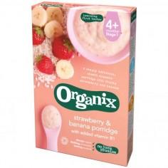 Cereale Organix cu Orez integral, Porumb, Banane si Capsuni, 120 g, de la 4 luni