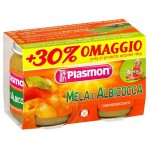 Piure Plasmon, Mere si Caise, fara gluten, 2x104 g, 6+