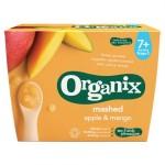 Piure Organix Eco, Pulpa de Mere, Mango, 4x95 g, de la 7 luni