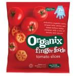 Snack Organix Finger, Feliute din Porumb expandat, Rosii & Morcovi, 20g, de la 7 luni
