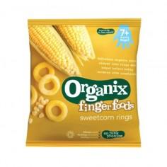 Inele din porumb expandat dulce bio 7+ Finger Foods 20g Organix