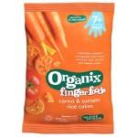 Rondele Organix Finger din Orez expandat, Morcovi si Rosii, 50 g, de la 7 luni