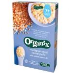 Cereale Organix Multicereale Mini Pufs, 90g, de la 7 luni