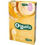 Cereale Organix cu Orez integral, Porumb, Banane si Mango, 120 g, de la 4 luni