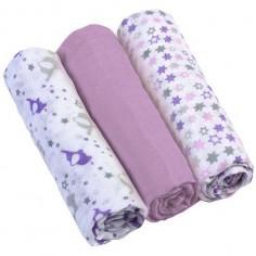 Scutece textile pentru bebelusi 3 buc BabyOno 04 Mov
