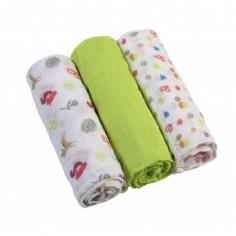 Scutece textile pentru bebelusi 3 buc BabyOno 06 Verde