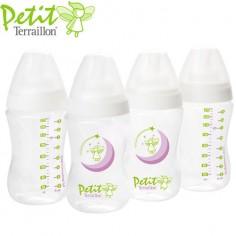 Petit Terraillon - Set 4 biberoane 270 ml