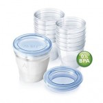 Philips Avent - VIA Recipiente pentru laptele matern 180ml fara BPA