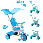 Baby Trike - Tricicleta Baby Trike 4 in 1 Deluxe Aqua