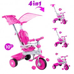 Baby Trike - Tricicleta Baby Trike 4 in 1 Deluxe Pink