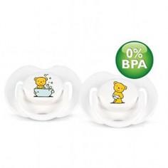 PHILIPS AVENT - Set 2 suzete din silicon Ursuleti 0-3 luni 0% BPA