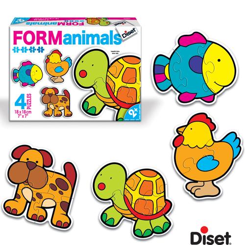 Diset - Puzzle cu animale