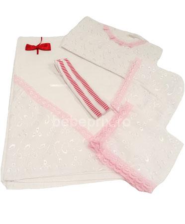 Baby Botez - Set 6 piese botez roz