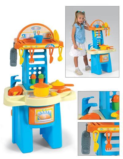 Palau Toys - Bucatarie cu 14 accesorii de plastic