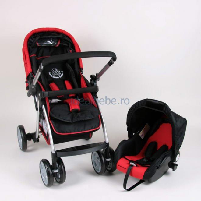 Bambino World - Drive & Walk combi system ALU RED + Scoica