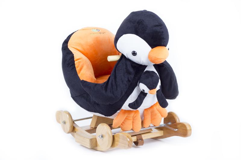 KinderKraft - Kinderkraft - Balansoar cu roti 2 in 1 Pinguin cu sunete