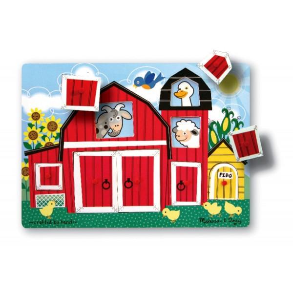 Melissa & Doug - Puzzle Cucu-Bau Ferma Animalelor
