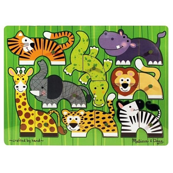Melissa & Doug - Puzzle lemn Gradina Zoologica