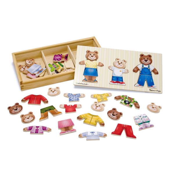 Melissa & Doug - Set de joaca - Imbraca familia de ursuleti