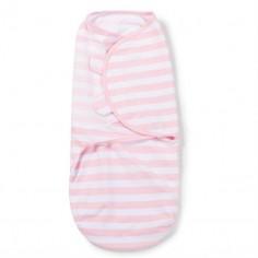 Summer Infant– 55876 Sistem de infasare pentru bebelusi Dungulite alb/roz, 0-3 luni