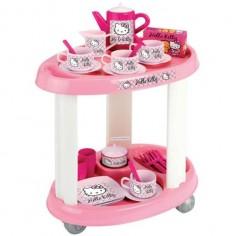 Ecoiffier - Carucior cu Set Ceai Hello Kitty