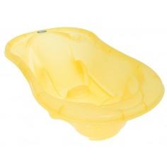 Cadita anatomica Tega Baby cu termometru Komfort Galben transparent
