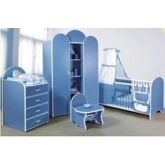 Bretco Design - Dormitor MARGOT bleu