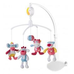 Carusel muzical Baby Ono cu prindere universala Rosie si prietenii