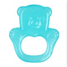Inel gingival flexibil cu gel de racire Ursulet Turcoaz