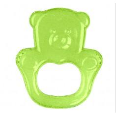 Inel gingival flexibil cu gel de racire Ursulet Verde