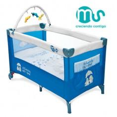 Innovaciones Ms - Patut pliabil Travel Complet Blue
