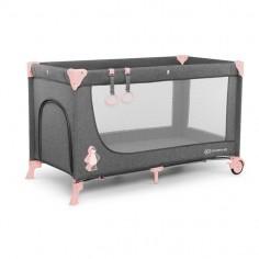 Kinderkraft - Patut pliabil cu 1 nivel Joy Pink