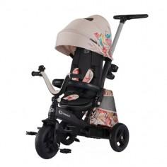 Kinderkraft - Tricicleta 4 in 1 rotativa cu pozitie de somn EASY TWIST Bird LIMITED EDITION