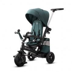 Kinderkraft - Tricicleta 4 in 1 rotativa cu pozitie de somn EASY TWIST Midnight Green