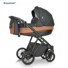 Krausman - Carucior 3 in 1 LEXXO Black Caramel