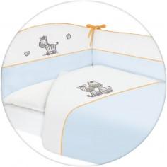 Lenjerie de pat cu 3 piese Zebra Albastru