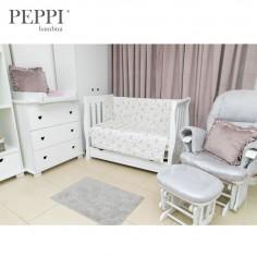 PEPPIbambini - Lenjerie patut 5 piese Elephant Pink