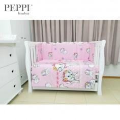 PEPPIbambini - Lenjerie patut 4 piese Kitty Pink