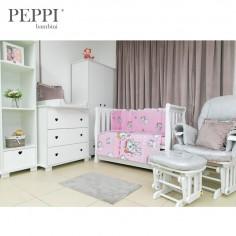 PEPPIbambini - Lenjerie patut 5 piese Kitty Pink