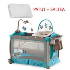 Krausman - Patut Play Yard Luxury + Saltea Cocos Konfort 105*70 cm
