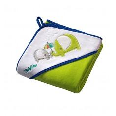Prosop de baie cu gluga 100x100 cm Hooded Towel Green