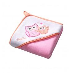 Prosop de baie cu gluga 76x76 cm Hooded Towel Pink