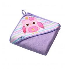 Prosop de baie pentru bebelusi cu capison 100x100 cm Terry 01