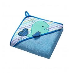 Prosop de baie pentru bebelusi cu capison 76x76 cm Terry 04