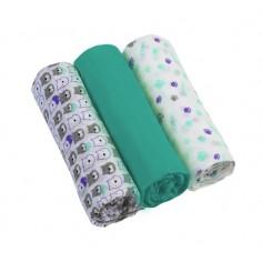 Scutece textile pentru bebelusi 3 buc BabyOno 05 Turcoaz