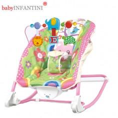 babyINFANTINI - Balansoar 2 in 1 Happy Friends Pink